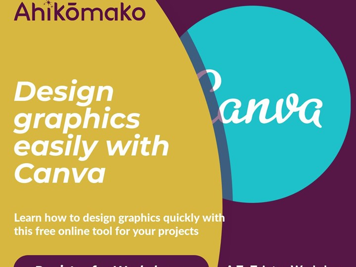 Te Toiotua Workshop | Designing graphics easily with Canva